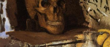 artwork-of-paul-cezanne-still-life-skull-and-waterjug-modern-paintings-landscape-handmade-high-quality