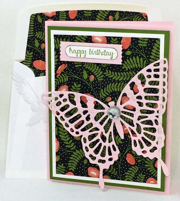Pink Pirouette Butterfly Birthday Card - Visit http://www.3amstamper.com