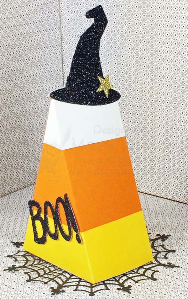 Candy Corn Treat Box - Visit http://www.3amstamper.com