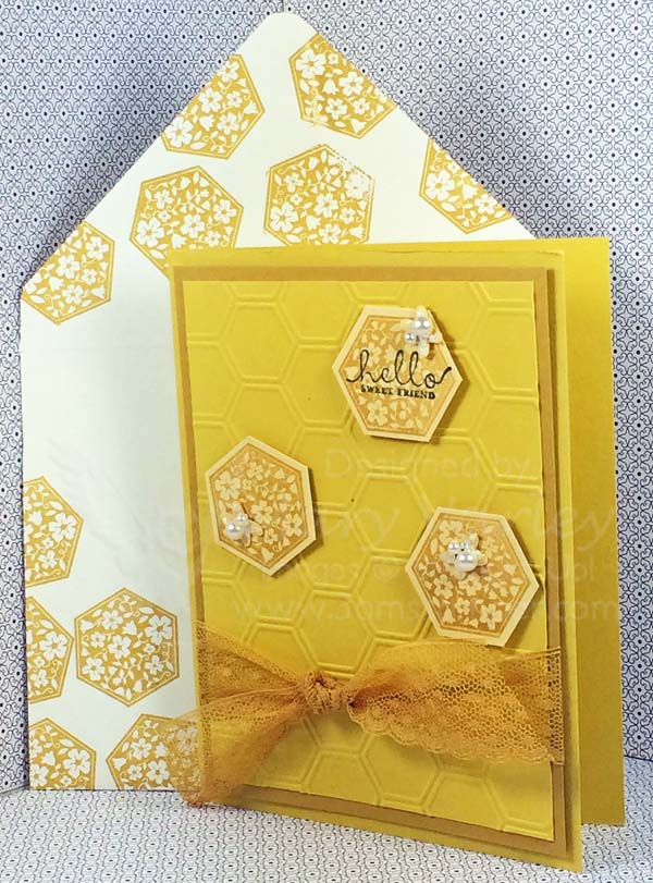 Hello Honey Honeycomb Hello Card - Visit http://www.3amstamper.com