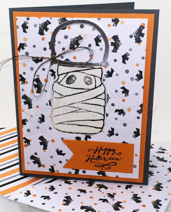 Mummy in a Jar Halloween Card - Visit http://www.3amstamper.com
