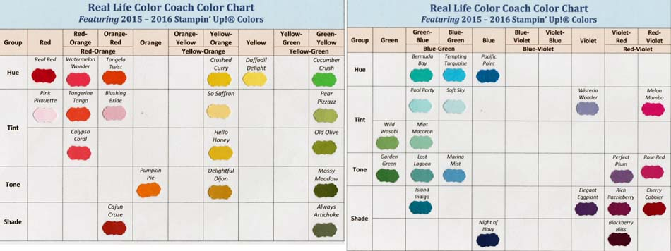 Real Life Color Coach Colot Charts-Triad-Visit http://www.3amstamper.com