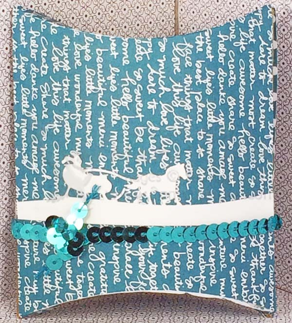 Sleigh Ride Pillow Box - Visit http://wwwl3amstamper.com