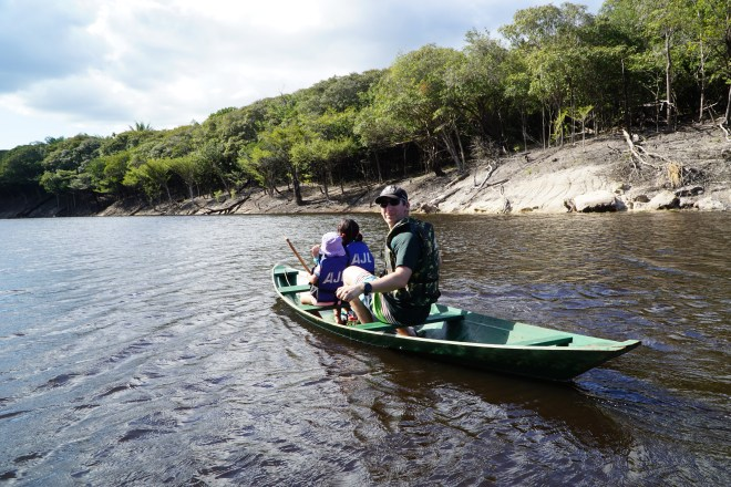 Kayaking along the Rio Negro