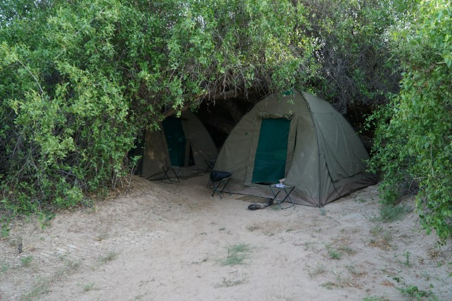 Our tents in Purros