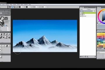 corel-painter_tutorial_mountains