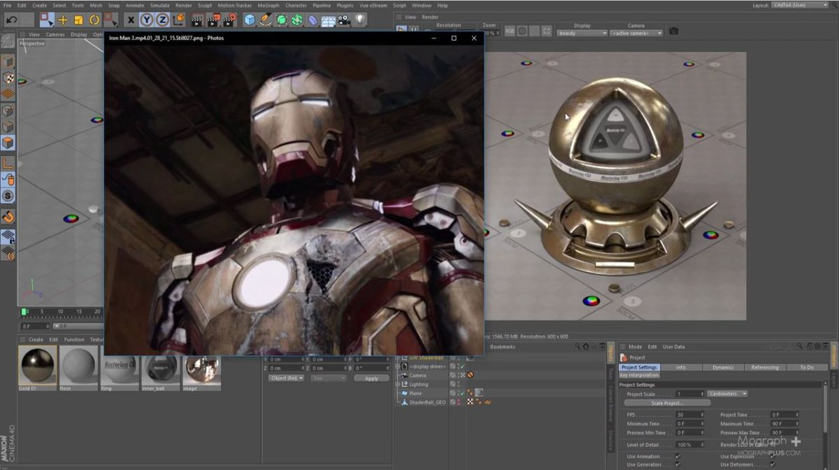 Iron Man Shaders in Arnold for Cinema 4D