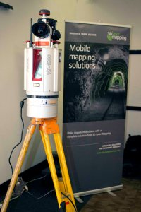 A VZ-1000 on display at the 3D Laser Mapping User Conference 2015