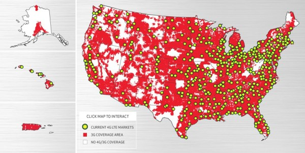 Verizon 4G LTE MAP