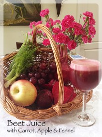 Slow Juicer Beets : Beet Juice with fennel, carrot and apple 3 Italian Sisters
