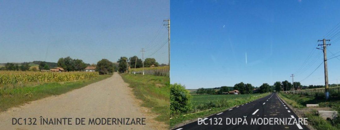 Au fost finalizate lucrările de  modernizare ale drumului comunal DC132 din comuna Band