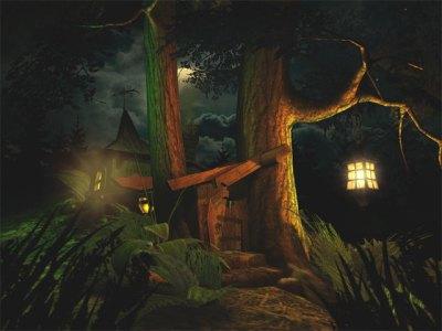 Fantasy 3D Screensavers - Fantasy Moon - Spooky 3D screensaver awesome full moon.