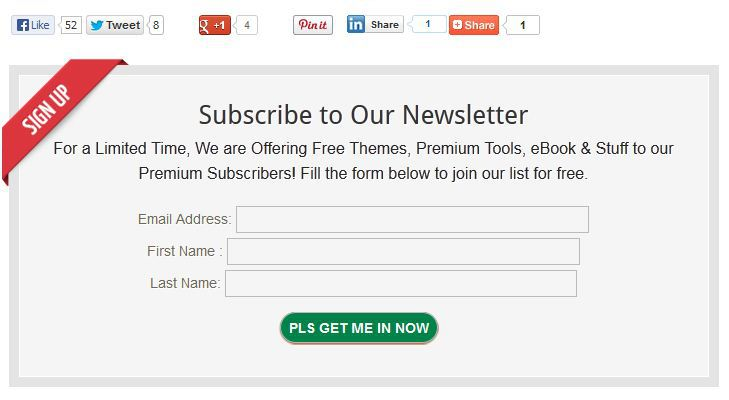 add newsletter opt-in subscription form to after post content in blogger