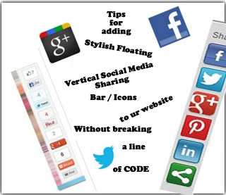 how to add vertical social sharing Icon to a website