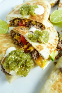 quick and easy quesadillas with salsa verde