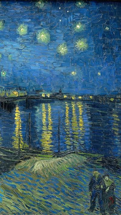 Van Gogh art Wallpaper for iPhone X, 8, 7, 6 - Free ...