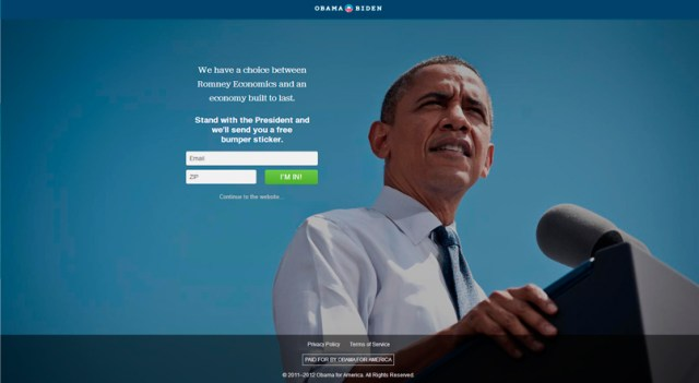 web obama Obama: 4 lecciones de Marketing Online