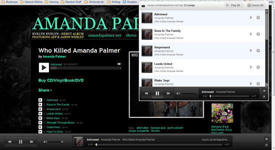 Amanda Palmer added to ExtensionFM Playlist via Bandcamp