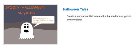 Storyjumper Haloween Story Template