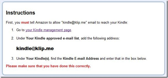 Send to Kindle instructions