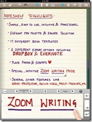 Noteshelf Natural Handwriting App for iPad