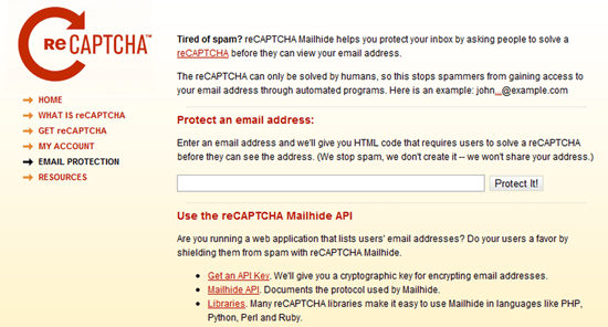 reCAPTCHA Mailhide Email Spam Protection | 40Tech