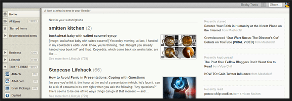 Make Google Reader Pretty with Reeder for Chrome | 40Tech