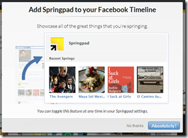 Add Springpad to Your Facebook Timeline | 40Tech