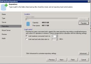 Veeam - Edit Backup Repository