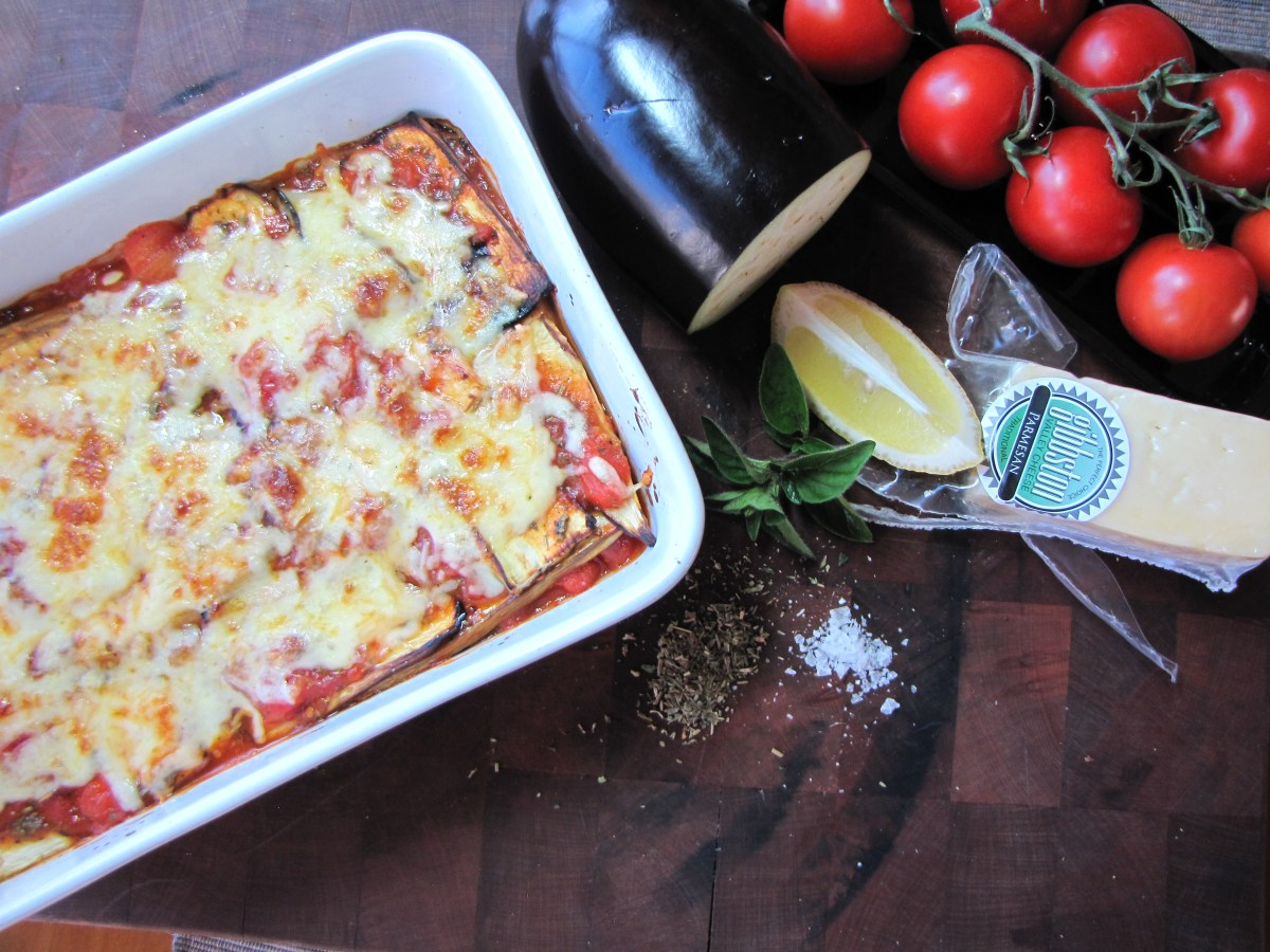 Eggplant Lasagne - a low calorie meal that hits the spot