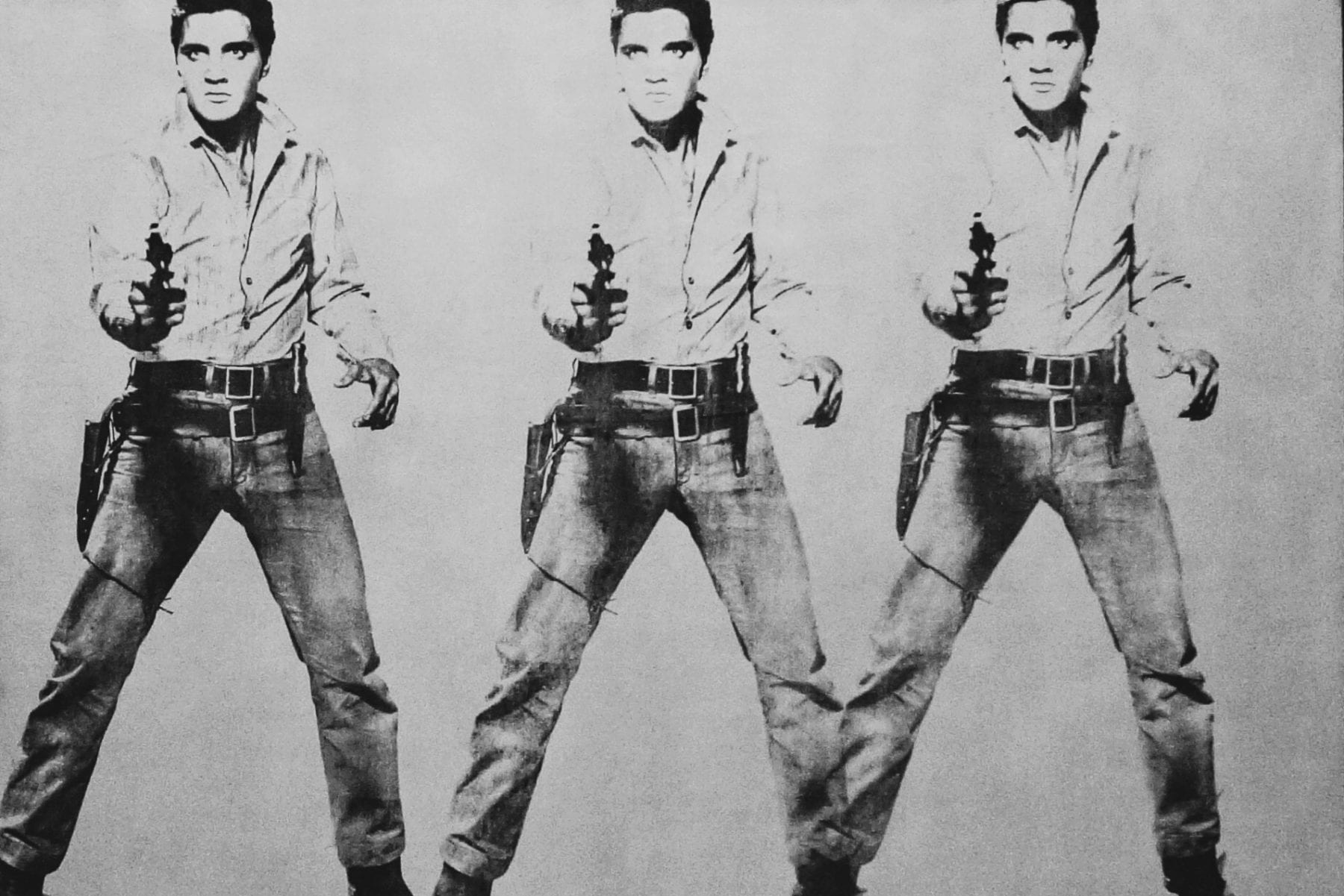 """Triple Elvis"" (1963), Andy Warhol at The Doris and Donald Fisher Collection at the San Francisco Museum of Modern Art. Photo: Kyle Legg / 49miles.com."