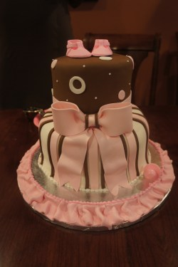 Cozy Pink Brown Baby Shower Cake Baby Shower Cakes Every Occasion Cupcakes Cakes Baby Boy Shower Cakes Cupcakes Baby Boy Shower Cakes Homemade