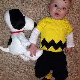 Charlie Brown and his beagle