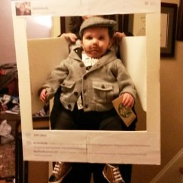 A Hipster baby on Instagram. Very original!