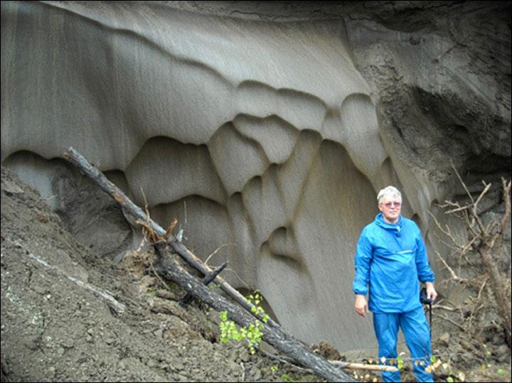 Dr Anatoli Brouchkov, head of the Geocryology Department, Moscow State University, on Mamontova Gora. Picture: Anatoli Brouchkov