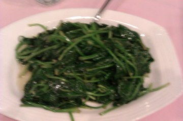 Spinach in Garlic Sauce Good For runners