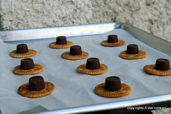 5starcookies ritz and rolo ready for baking