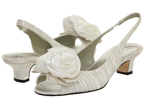 J. Renee - Accent (White Satin) Women's Slip-on Dress Shoes