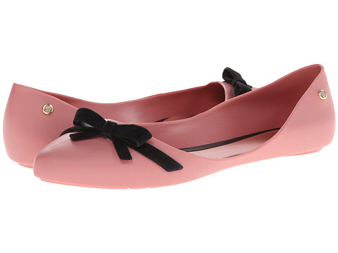 Melissa Shoes - Trippy (Pink/Black) Women's Slip on  Shoes