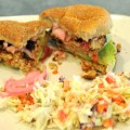 Hoisin Chicken Burgers with Pickled Red Onions & Slaw – Less Than $3 A Person