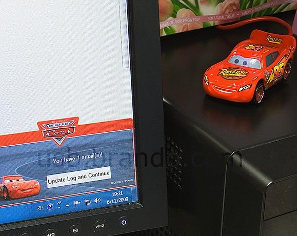Disney Cars USB Email Alert