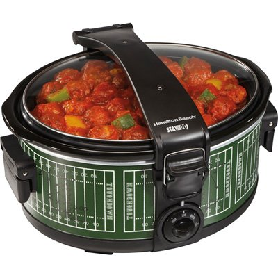Stay or Go 6Qt Oval Slow Cooker