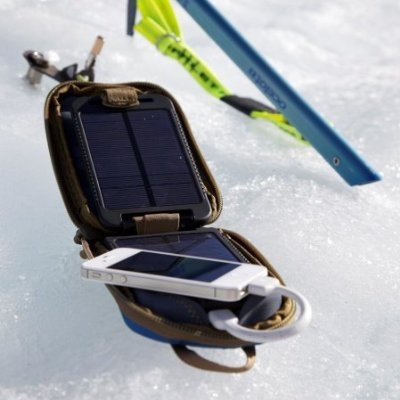 Portable Solar Charger with Internal Battery