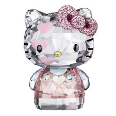 Swarovski Crystal Hello Kitty Pink Hearts Limited Edition 2012 Figurine