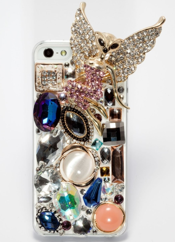 Amazon.com  Newsh Bling Bling 3D Handmade Swarovski Crystal Fly Wizard Back Case Cover for Iphone 5 - MAIN