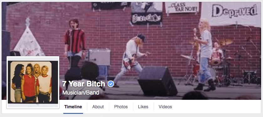 7 Year Bitch Facebook page