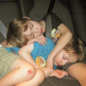 And some kids can sleep anywhere.