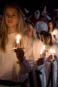 Girls in a St. Lucia Day Procession   Image from Wikipedia