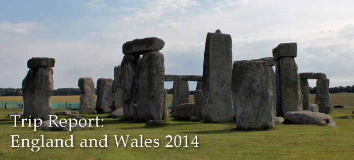 England trip report banner, with a photo of Stonehenge