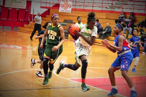 2 Of The Best 5 Players In The City (Left-Jayla Hemingway, With Ball- Lanette Williams)